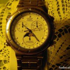Relojes - Citizen: CITIZEN CHROGRAPH (( TITANIUM )). FASE LUNAR. ORIGINAL. FUNCIONANDO. BATE NUEVA 5 AÑOS. 40 MM. S/C.. Lote 116997671