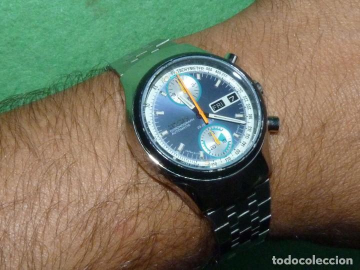 e95cee0201244 Deportivo reloj Citizen Chronografo 67-9038 Automatico 1974 Flyback 23  rubis calibre 8110 bullhead