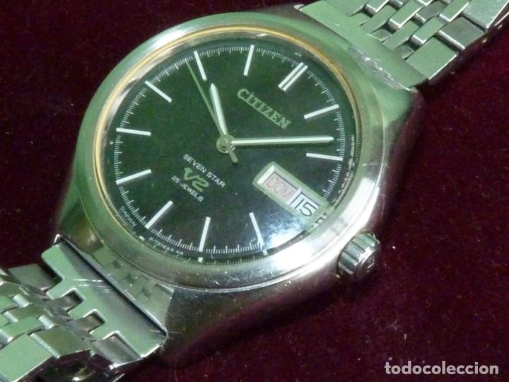 DIFICIL CITIZEN V2 SEVEN-STAR 1969 AUTOMATICO 25 RUBIS DOBLE CALENDARIO VINTAGE MADE IN JAPAN (Relojes - Relojes Actuales - Citizen)