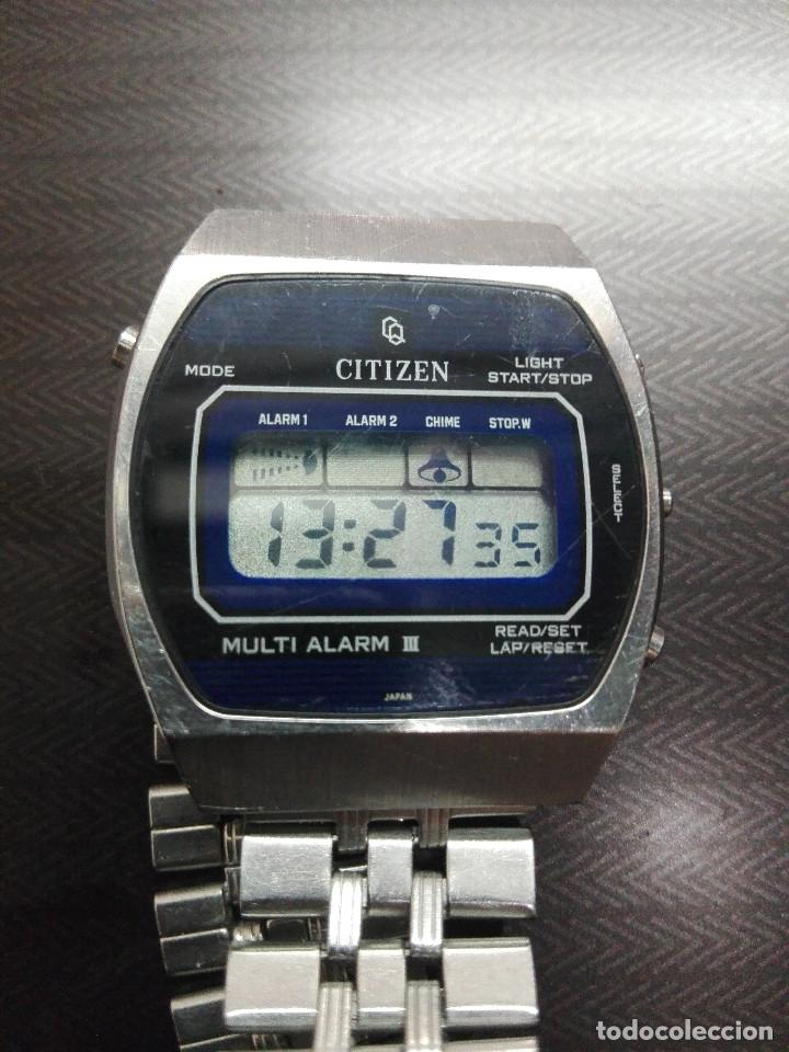 Relojes - Citizen: CITIZEN MULTI ALARM III 41-3038. CORREA ORIGINAL. EXCELENTE ESTADO. FUNCIONANDO CORRECTAMENTE - Foto 3 - 128434107