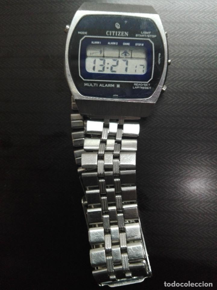 Relojes - Citizen: CITIZEN MULTI ALARM III 41-3038. CORREA ORIGINAL. EXCELENTE ESTADO. FUNCIONANDO CORRECTAMENTE - Foto 5 - 128434107