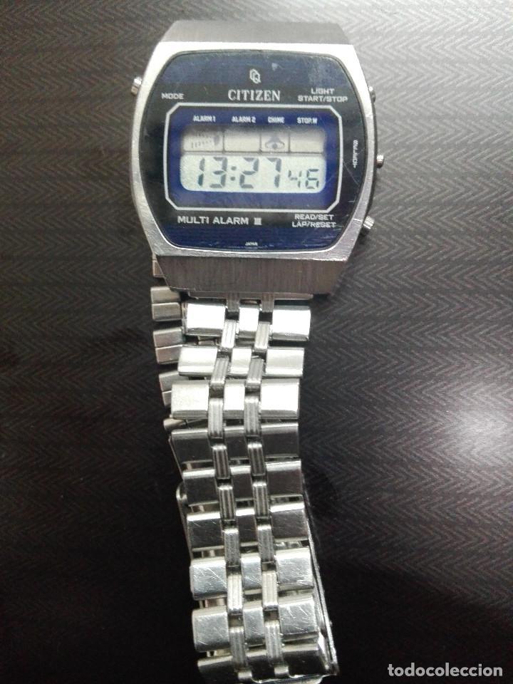 Relojes - Citizen: CITIZEN MULTI ALARM III 41-3038. CORREA ORIGINAL. EXCELENTE ESTADO. FUNCIONANDO CORRECTAMENTE - Foto 6 - 128434107