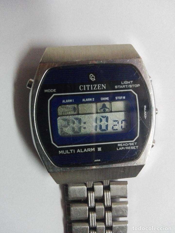 Relojes - Citizen: CITIZEN MULTI ALARM III 41-3038. CORREA ORIGINAL. EXCELENTE ESTADO. FUNCIONANDO CORRECTAMENTE - Foto 10 - 128434107