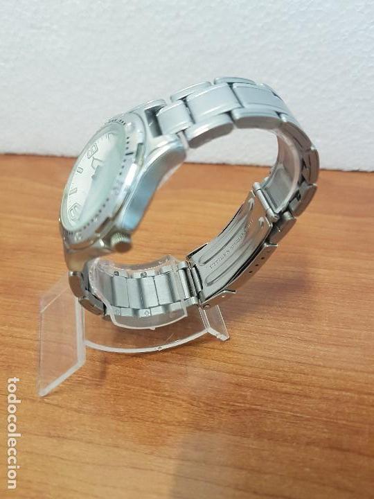 Relojes - Citizen: Reloj caballero Vintage CITIZEN automático en acero con doble calendario, correa de acero original - Foto 4 - 138774650