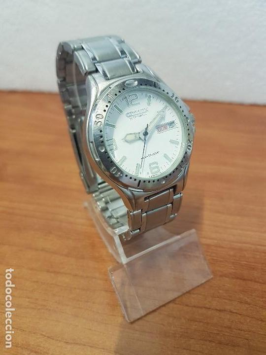 Relojes - Citizen: Reloj caballero Vintage CITIZEN automático en acero con doble calendario, correa de acero original - Foto 5 - 138774650