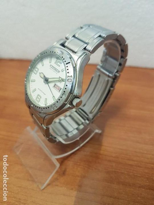 Relojes - Citizen: Reloj caballero Vintage CITIZEN automático en acero con doble calendario, correa de acero original - Foto 7 - 138774650