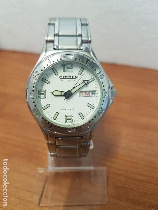 Relojes - Citizen: Reloj caballero Vintage CITIZEN automático en acero con doble calendario, correa de acero original - Foto 12 - 138774650