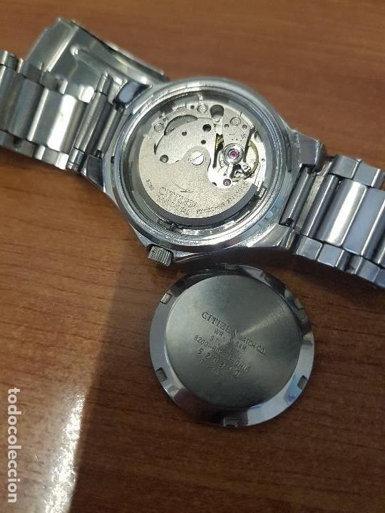 Relojes - Citizen: Reloj caballero Vintage CITIZEN automático en acero con doble calendario, correa de acero original - Foto 19 - 138774650