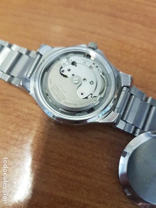 Relojes - Citizen: Reloj caballero Vintage CITIZEN automático en acero con doble calendario, correa de acero original - Foto 23 - 138774650