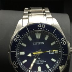 Relojes - Citizen: CITIZEN PROMASTER DIVER 200 MT ECO-DRIVE RELOJ CITIZEN SUPER TITANIO. Lote 143206965