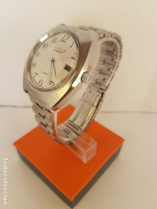 Relojes - Citizen: Reloj de caballero automático CITIZEN en acero, calendario a las tres horas, correa acero original - Foto 2 - 92280900