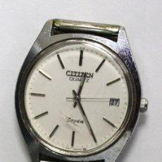 Relógios - Citizen: RELOJ CITIZEN QUARTZ SEVEN. AY-203 CCP. DE ACERO. CON CALENDARIO. Lote 240607755