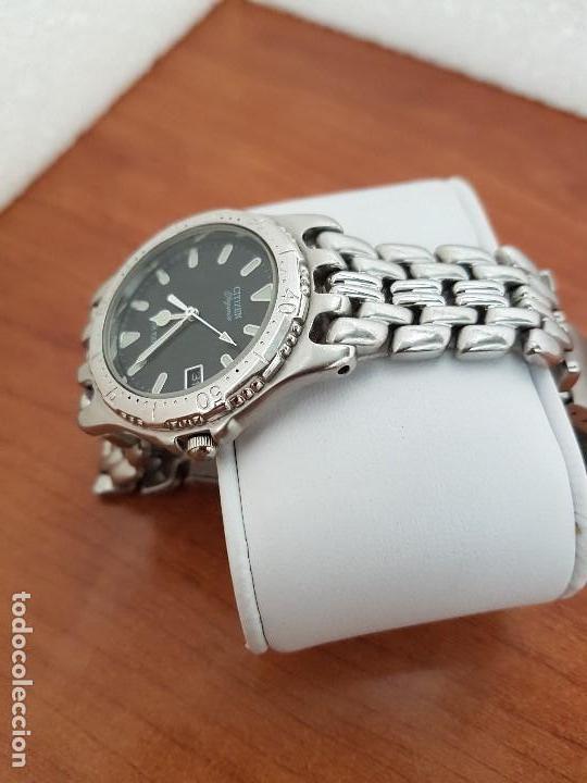 Relojes - Citizen: Reloj caballero cuarzo CITIZEN acero con calendario a las tres, esfera negra, correa acero original - Foto 5 - 154505302