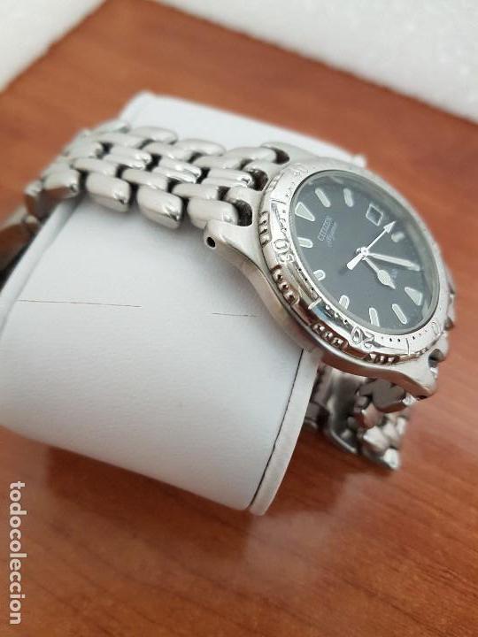 Relojes - Citizen: Reloj caballero cuarzo CITIZEN acero con calendario a las tres, esfera negra, correa acero original - Foto 6 - 154505302
