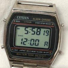 Relojes - Citizen: RELOJ PULSERA DIGITAL CITIZEN P110-312759 FUNCIONA BUENA CONSERVACION CORREA ORIGINAL. Lote 154562832