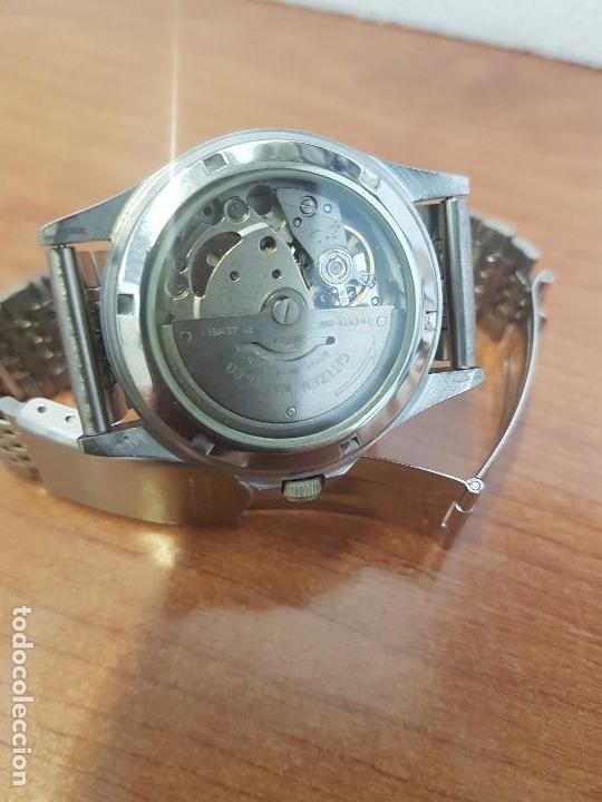 Relojes - Citizen: Reloj de caballero (Vintage) CITIZEN acero automático con doble calendario a las tres correa acero - Foto 4 - 157814654