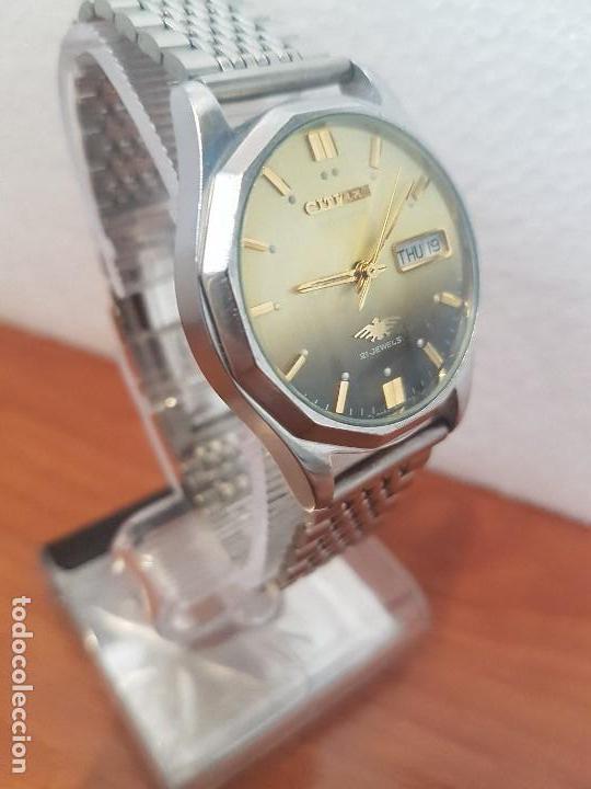 Relojes - Citizen: Reloj de caballero (Vintage) CITIZEN acero automático con doble calendario a las tres correa acero - Foto 5 - 157814654