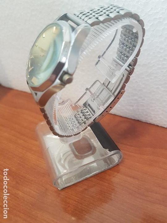 Relojes - Citizen: Reloj de caballero (Vintage) CITIZEN acero automático con doble calendario a las tres correa acero - Foto 6 - 157814654