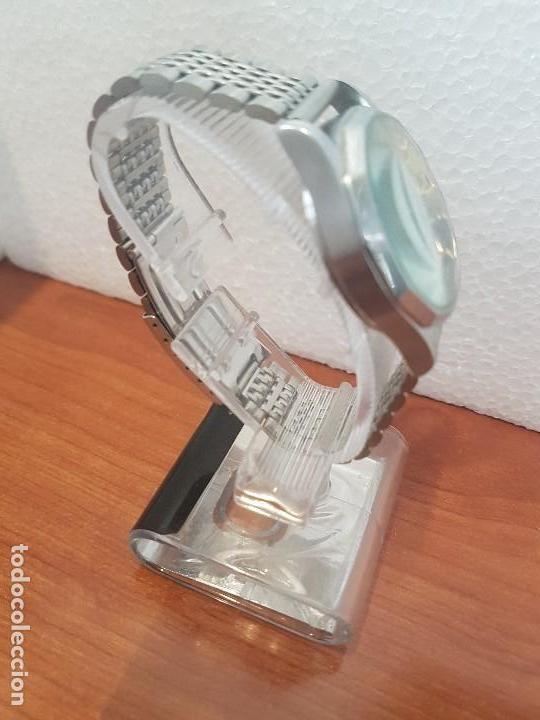 Relojes - Citizen: Reloj de caballero (Vintage) CITIZEN acero automático con doble calendario a las tres correa acero - Foto 7 - 157814654