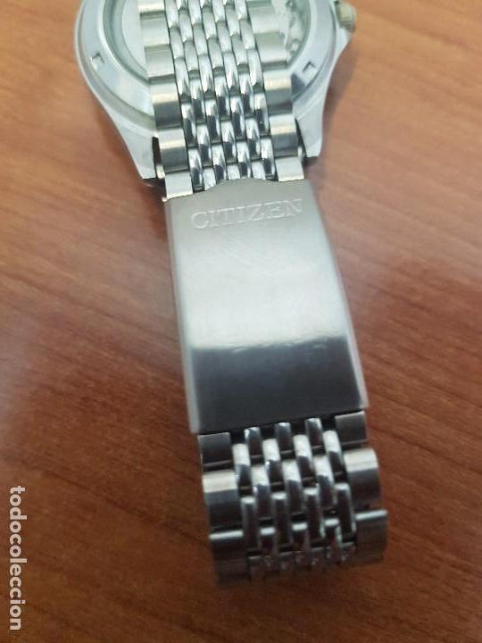 Relojes - Citizen: Reloj de caballero (Vintage) CITIZEN acero automático con doble calendario a las tres correa acero - Foto 8 - 157814654