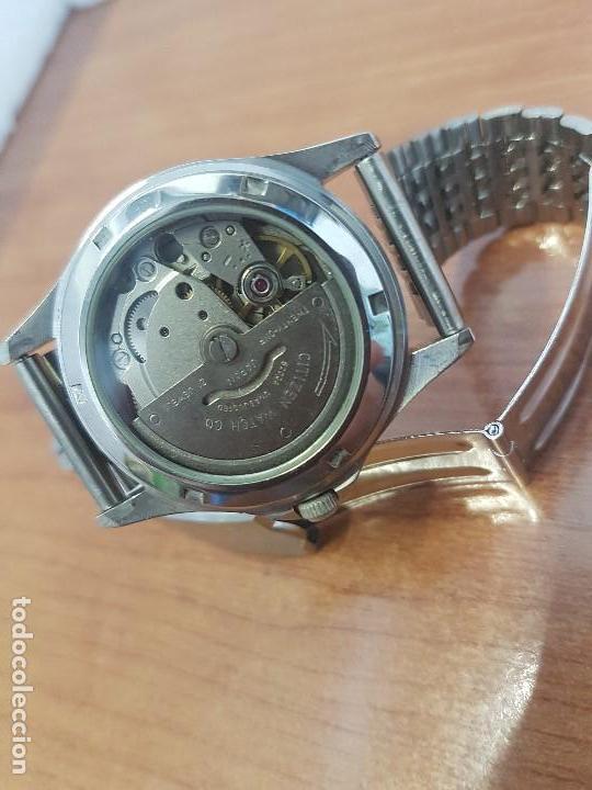 Relojes - Citizen: Reloj de caballero (Vintage) CITIZEN acero automático con doble calendario a las tres correa acero - Foto 13 - 157814654