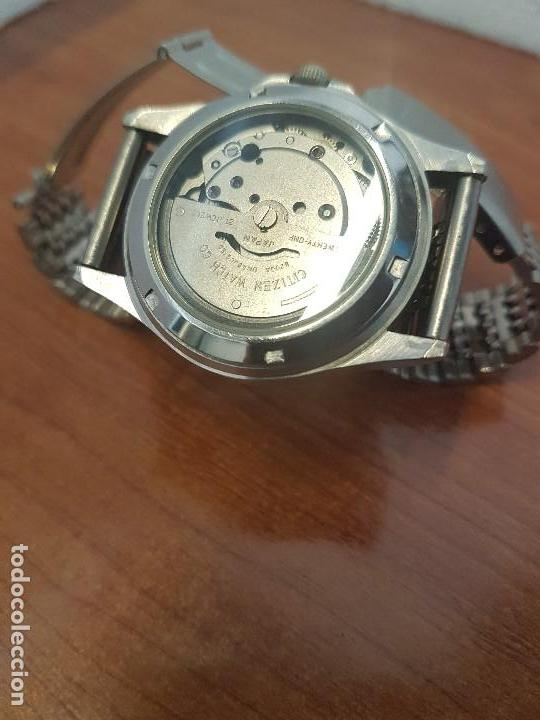 Relojes - Citizen: Reloj de caballero (Vintage) CITIZEN acero automático con doble calendario a las tres correa acero - Foto 15 - 157814654