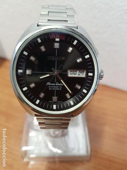 Relojes - Citizen: Reloj de caballero (Vintage) CITIZEN acero automático con doble calendario a las tres, año las doce - Foto 2 - 192175538