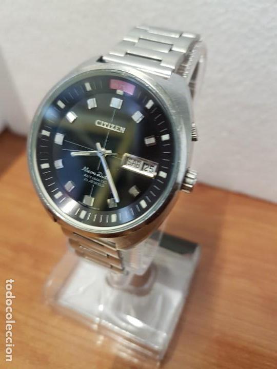 Relojes - Citizen: Reloj de caballero (Vintage) CITIZEN acero automático con doble calendario a las tres, año las doce - Foto 3 - 192175538