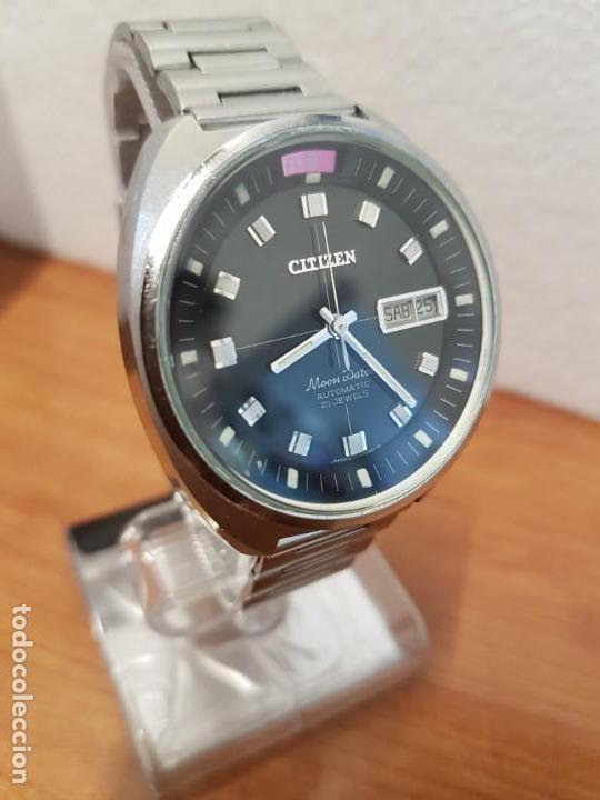Relojes - Citizen: Reloj de caballero (Vintage) CITIZEN acero automático con doble calendario a las tres, año las doce - Foto 4 - 192175538