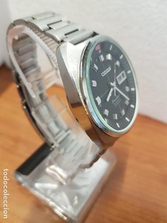 Relojes - Citizen: Reloj de caballero (Vintage) CITIZEN acero automático con doble calendario a las tres, año las doce - Foto 6 - 192175538