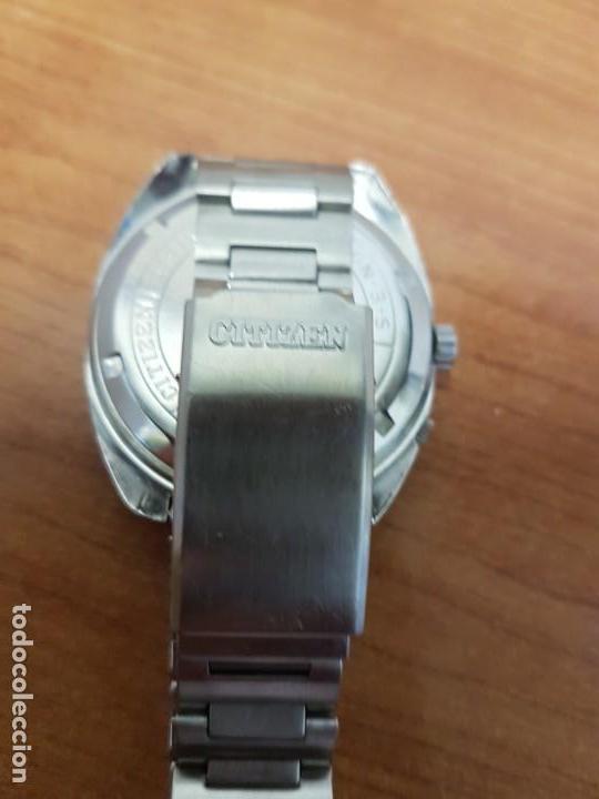 Relojes - Citizen: Reloj de caballero (Vintage) CITIZEN acero automático con doble calendario a las tres, año las doce - Foto 9 - 192175538