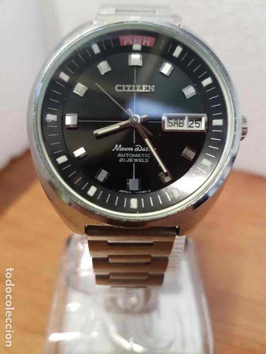 Relojes - Citizen: Reloj de caballero (Vintage) CITIZEN acero automático con doble calendario a las tres, año las doce - Foto 10 - 192175538
