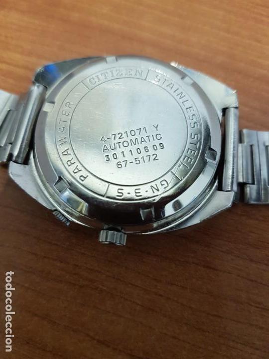 Relojes - Citizen: Reloj de caballero (Vintage) CITIZEN acero automático con doble calendario a las tres, año las doce - Foto 11 - 192175538