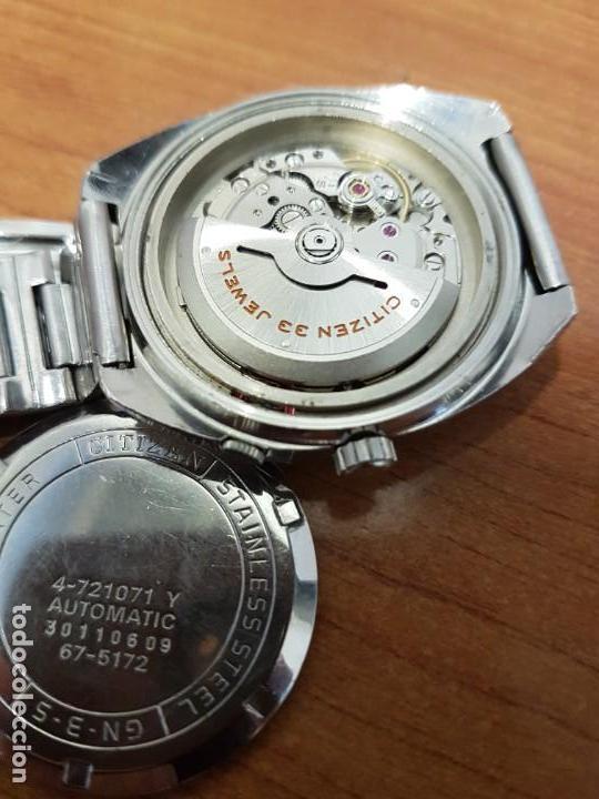 Relojes - Citizen: Reloj de caballero (Vintage) CITIZEN acero automático con doble calendario a las tres, año las doce - Foto 12 - 192175538