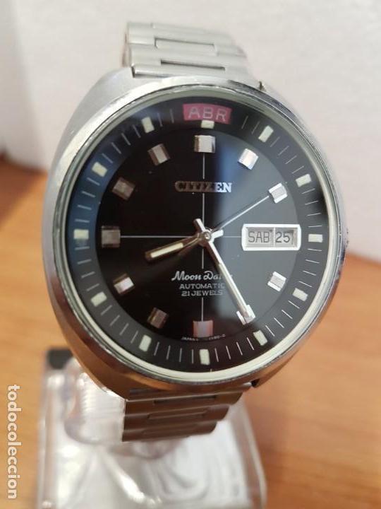 Relojes - Citizen: Reloj de caballero (Vintage) CITIZEN acero automático con doble calendario a las tres, año las doce - Foto 13 - 192175538