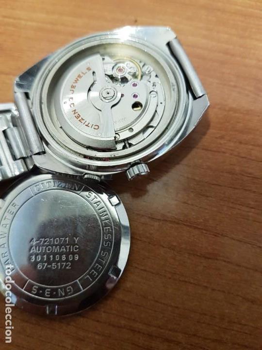 Relojes - Citizen: Reloj de caballero (Vintage) CITIZEN acero automático con doble calendario a las tres, año las doce - Foto 14 - 192175538