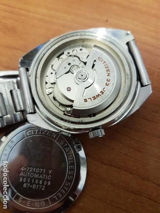 Relojes - Citizen: Reloj de caballero (Vintage) CITIZEN acero automático con doble calendario a las tres, año las doce - Foto 16 - 192175538
