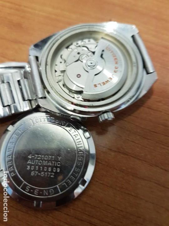 Relojes - Citizen: Reloj de caballero (Vintage) CITIZEN acero automático con doble calendario a las tres, año las doce - Foto 18 - 192175538