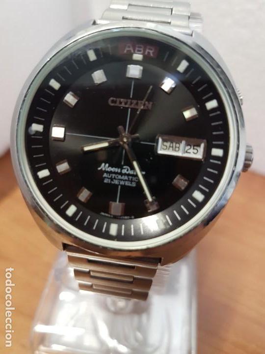 Relojes - Citizen: Reloj de caballero (Vintage) CITIZEN acero automático con doble calendario a las tres, año las doce - Foto 24 - 192175538