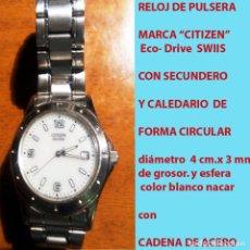 Relojes - Citizen: RELOJ CITIZEN ECO DRIVE, WATCH, NºS. ARABIGOS, SECUNDERO, CALENDARIO CON PULSERA ORIGANAL.SEMINUEVO.. Lote 178269157