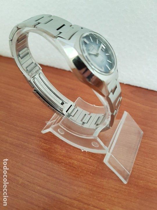 Relojes - Citizen: Reloj señora acero (Vintage) CITIZEN automático nuevo sin uso, esfera azulada, correa acero original - Foto 3 - 178298415