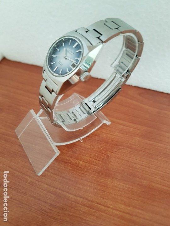 Relojes - Citizen: Reloj señora acero (Vintage) CITIZEN automático nuevo sin uso, esfera azulada, correa acero original - Foto 4 - 178298415