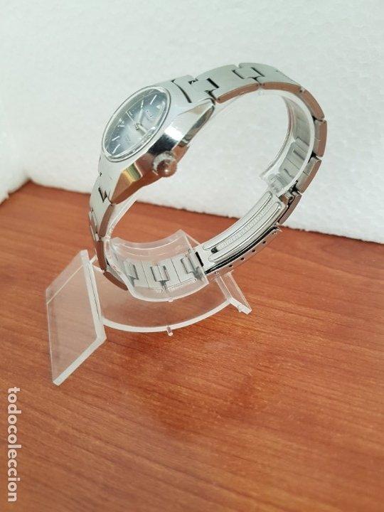 Relojes - Citizen: Reloj señora acero (Vintage) CITIZEN automático nuevo sin uso, esfera azulada, correa acero original - Foto 6 - 178298415