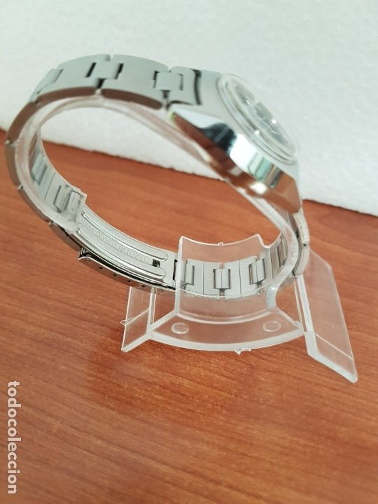 Relojes - Citizen: Reloj señora acero (Vintage) CITIZEN automático nuevo sin uso, esfera azulada, correa acero original - Foto 8 - 178298415
