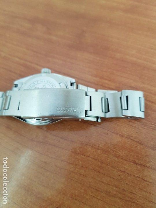 Relojes - Citizen: Reloj señora acero (Vintage) CITIZEN automático nuevo sin uso, esfera azulada, correa acero original - Foto 14 - 178298415