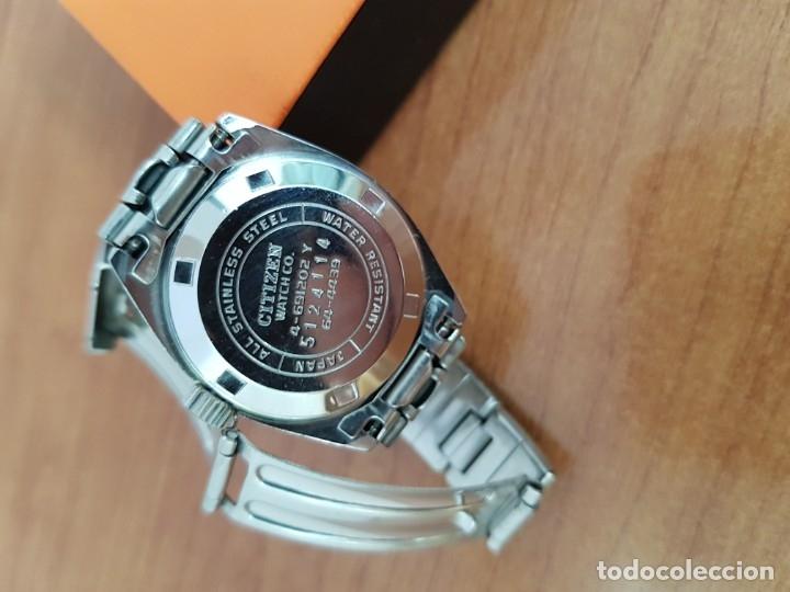 Relojes - Citizen: Reloj señora acero (Vintage) CITIZEN automático nuevo sin uso, esfera azulada, correa acero original - Foto 16 - 178298415
