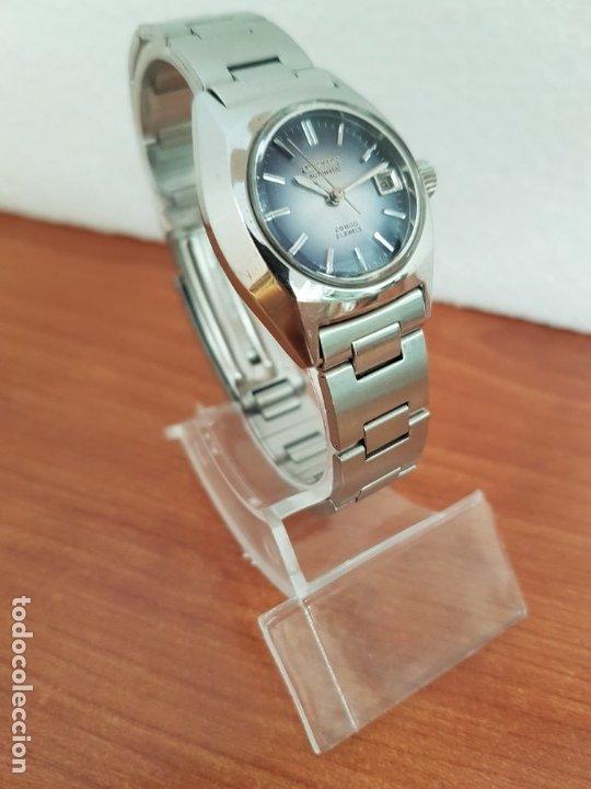 Relojes - Citizen: Reloj señora acero (Vintage) CITIZEN automático nuevo sin uso, esfera azulada, correa acero original - Foto 17 - 178298415