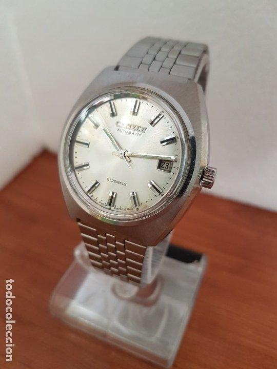 Relojes - Citizen: Reloj caballero (Vintage) CITIZEN acero automático con calendario a las tres horas, correa de acero - Foto 2 - 178300062