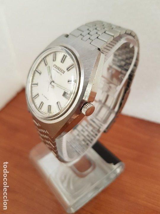 Relojes - Citizen: Reloj caballero (Vintage) CITIZEN acero automático con calendario a las tres horas, correa de acero - Foto 4 - 178300062