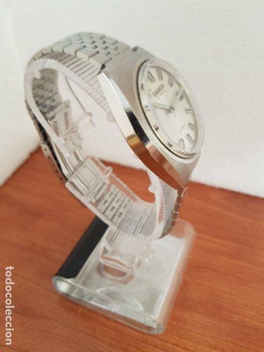 Relojes - Citizen: Reloj caballero (Vintage) CITIZEN acero automático con calendario a las tres horas, correa de acero - Foto 5 - 178300062